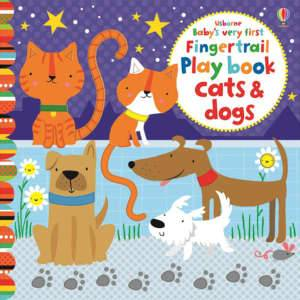 foto - baby's very first fingertrail play book cats and dogs